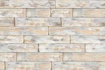 Vliestapete Fototapete SHABBY CHIC Whitewashed Wood 368x248 weiß geöltes Holz