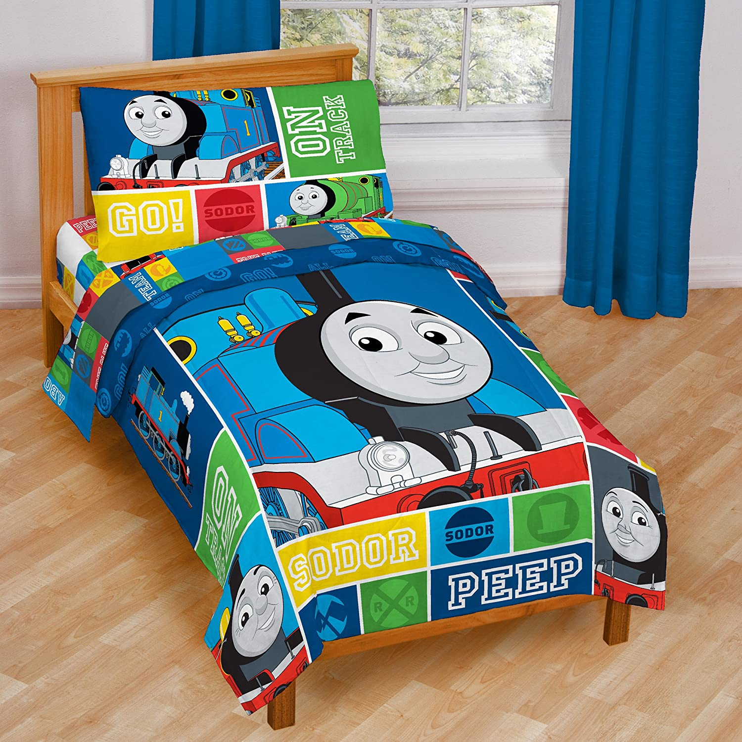 Thomas Tank Train On Track Toddler Bedding Set  Amazon ca  Home   Kitchen. Thomas Tank Train On Track Toddler Bedding Set  Amazon ca  Home