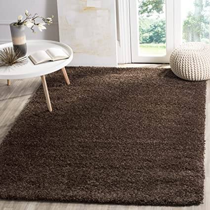Safavieh California Premium Shag Collection SG151 2727 Brown Area Rug (8u0027 X  10