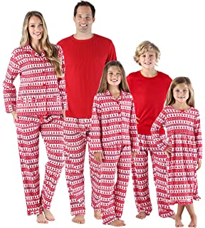 SleepytimePjs Holiday Family Matching Red Trees Flannel PJs Sets for The  Family 06f68d1b5
