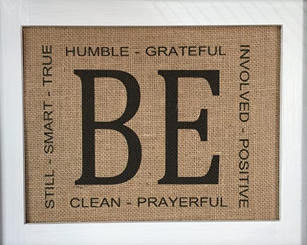 Beatitudes Unframed Burlap Wall Art