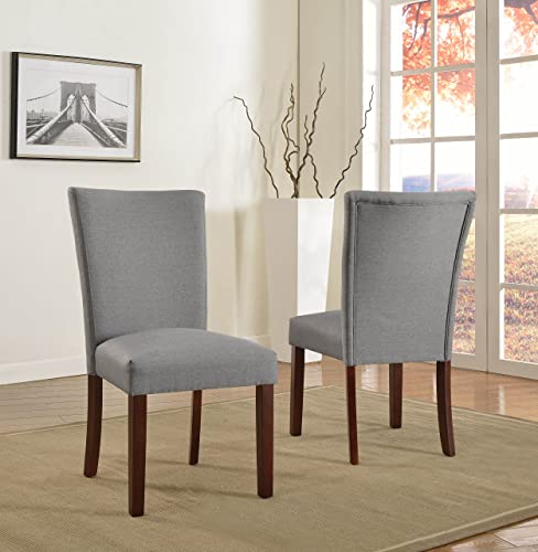 US Pride Furniture Sally Collection Classic Fabric Upholstered Dining Room Armless Accent Chair