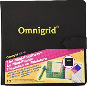 Omnigrid 7-Inch-by-7-Inch Mini Fold-Away Portable Cutting & Pressing Station
