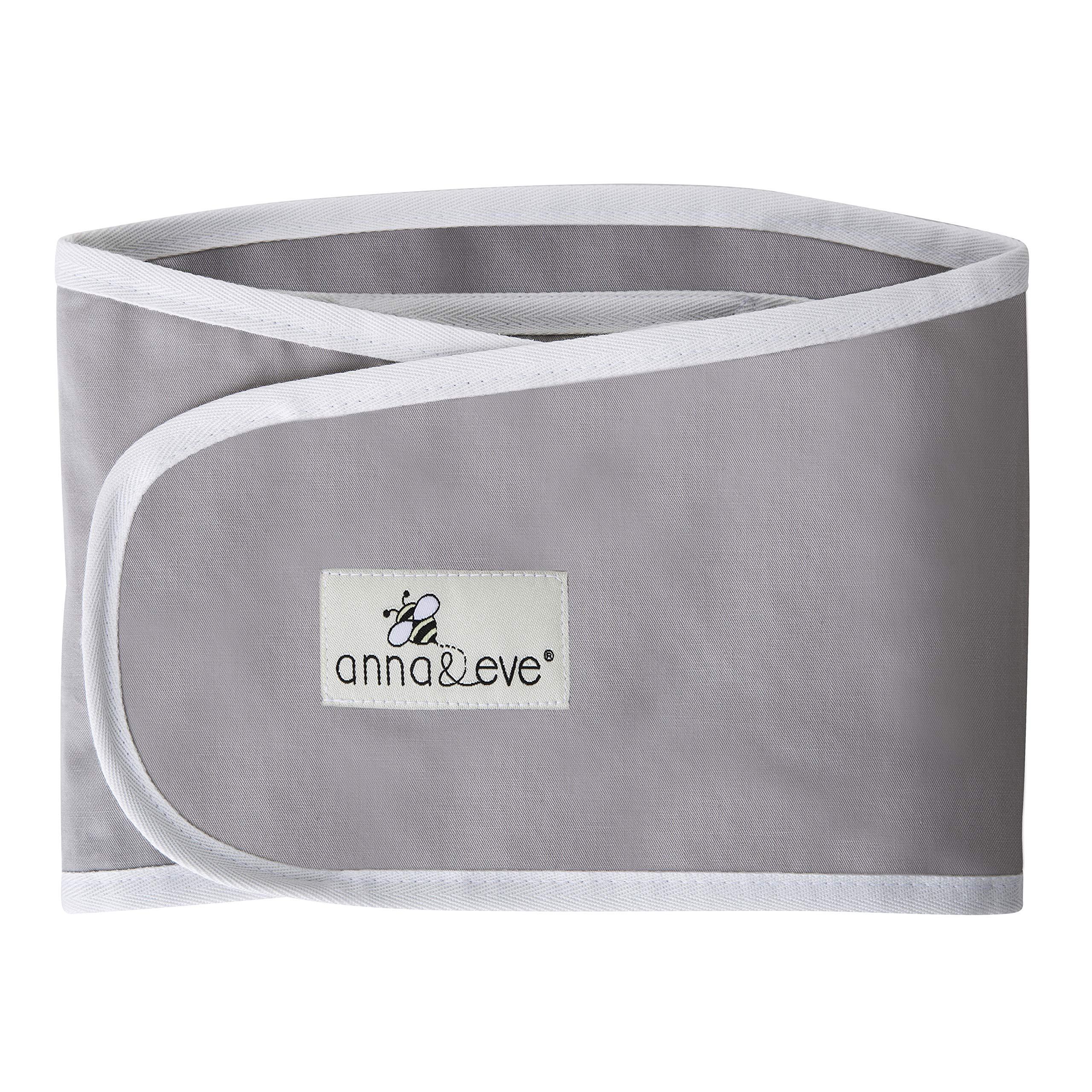 Anna & Eve - Baby Swaddle Strap, Adjustable Arms Only Wrap for Safe Sleeping - Grey, Large by Anna & Eve