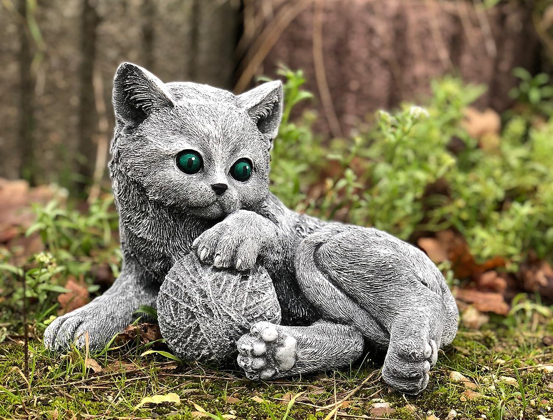 Statue chat Bella en massif pierre /… au gel jusque -30 /°c sont exp/édi/és