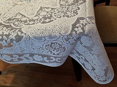 New White Lace Tablecloth. 40u0026quot; X 40u0026quot; Square ...