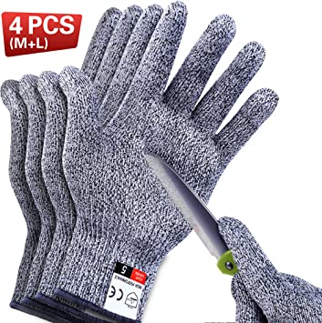 Cut Resistant Gloves Level 5 Protection Certified Safety Meat Cut Wood Carving