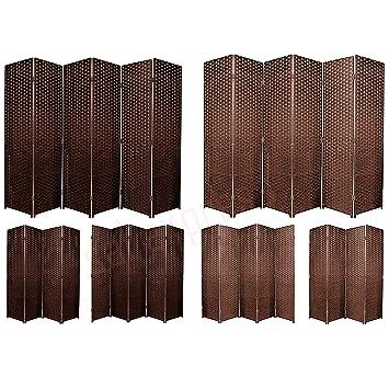 BlueBoxInnovations ENTWINE SQ Brown Colour Handmade 9 Pane panel Room Divider//Splitter Screens