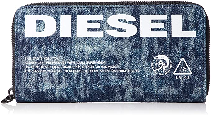 Diesel X06003 P2088 24ZIP MONEDEROS Unisex DENIM UNI: Amazon ...