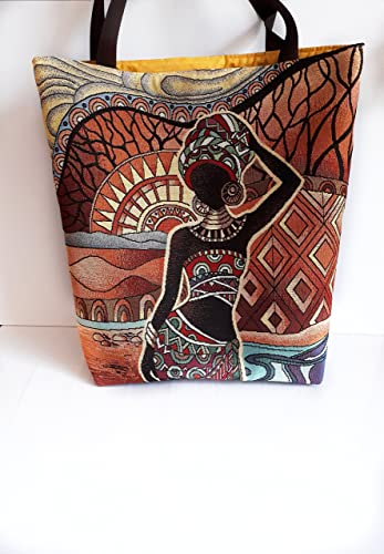 Main À Ethnique Afriquain Porté Cabas Épaule Sac Femme 0Pm8wyvnNO