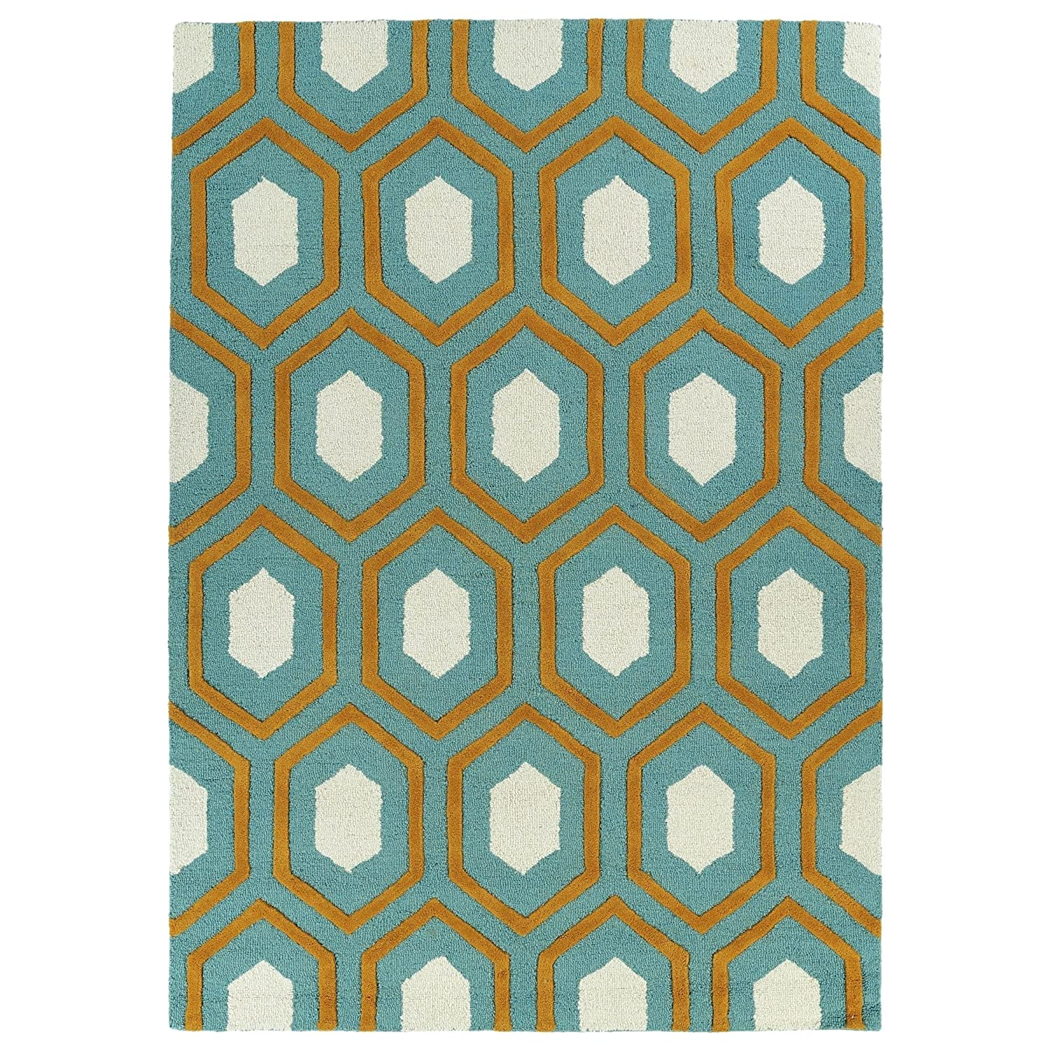 Kaleen Rugs Spaces Collection SPA03-91 Teal Hand Tufted Rug, 5