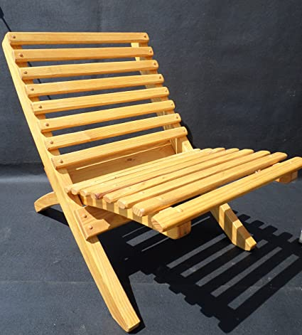 Wooden Handmade 2 Piece, Easy Storage Chair (Finished, Adult)