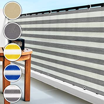 casa pura® Malla de ocultación para balcón o jardín, resistente a la intemperie, 90 x 500 cm, varios colores, gris: Amazon.es: Bricolaje y herramientas
