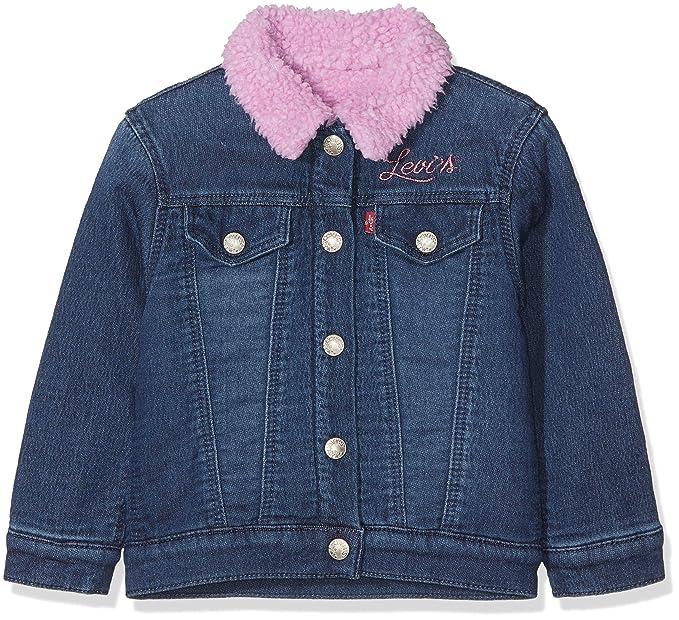 Levis kids Jacket NM40504, Chaqueta para Niñas, Azul (Indigo 46), 2