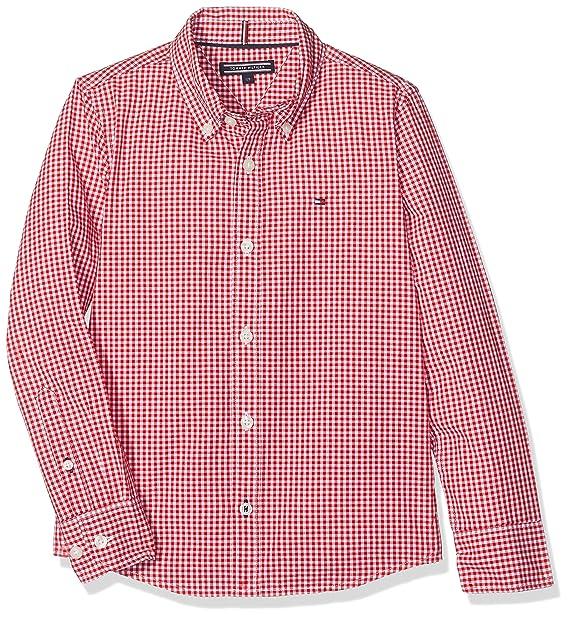 Tommy Hilfiger AME Small Gingham Shirt L/S, Blusa para Niños, Rojo (Rouge Salsa), 8 Años: Amazon.es: Ropa y accesorios