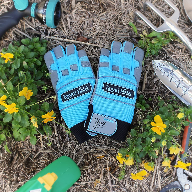 2 Pair Split Leather Work Gloves Lawn Gardening Yard Mowing Landscaping Pavers