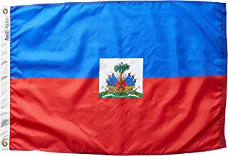product image for Annin Flagmakers Model 193355 Haiti Flag Nylon SolarGuard NYL-Glo, 2x3 ft, 100% Made in USA to Official United Nations Design Specifications