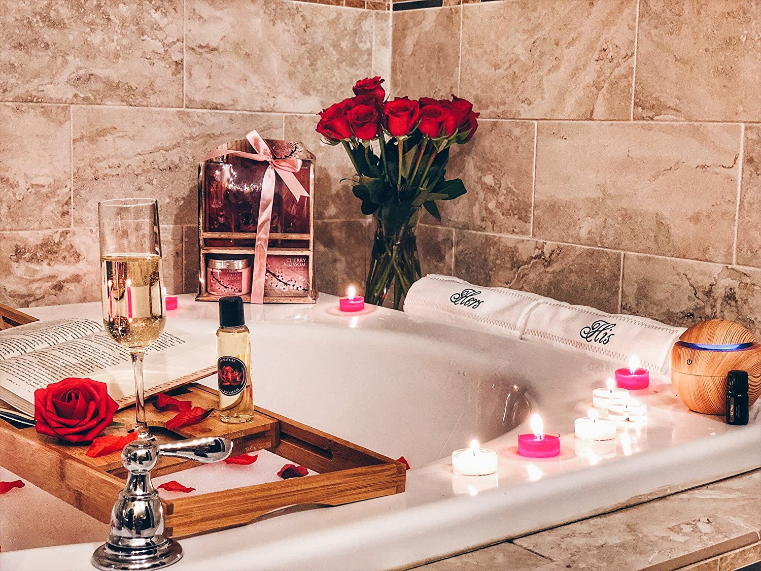 Romantic Spa Gift Box with His and Hers Bath Robes Romance Helpers