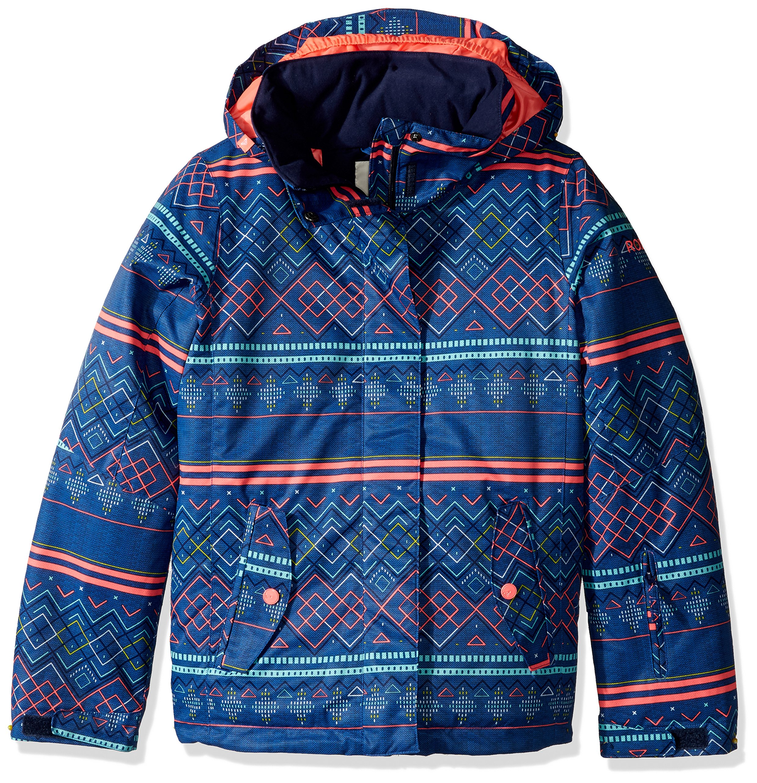 Roxy Big Jetty Girl Snow Jacket, Sodalite Blue_Asta Fairisle, 12/Large