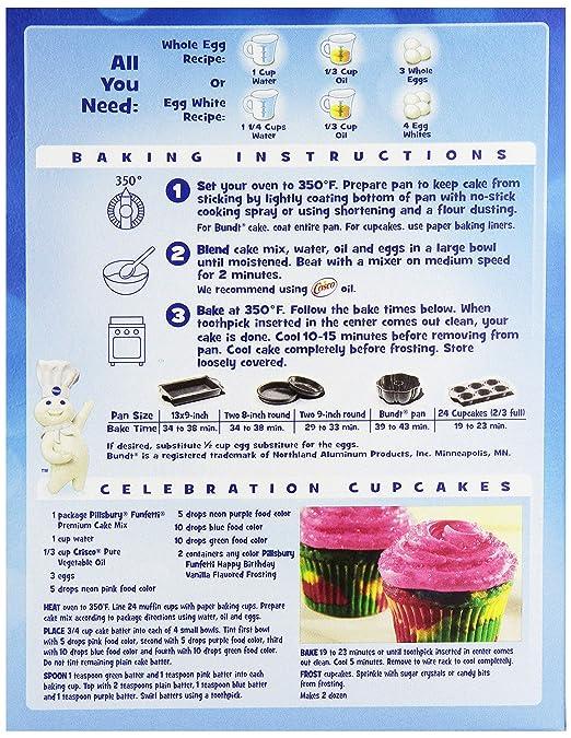 Amazon Pillsbury Funfetti Cake Mix 1525 Oz Grocery