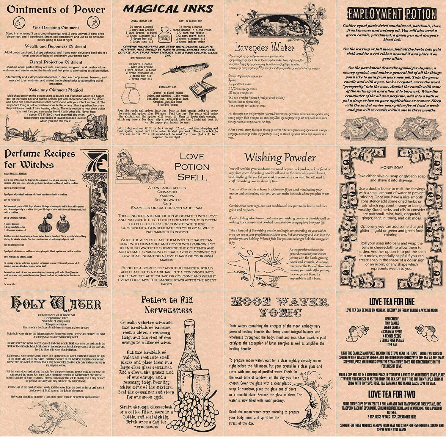 Amazon The Grimoire Book of Shadows Spell Pages 12 Magic