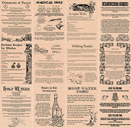 Amazon.com: Book of Shadows Spell Pages, 12 Magic Potions and ...