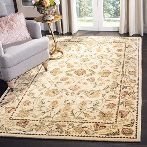 Safavieh Bergama Collection BRG161B Handmade Ivory Premium Wool Area Rug 9 6 x 13 6