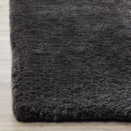 Safavieh Sheep Shag Collection SSG120C Handmade Charcoal Area Rug 3 x 5