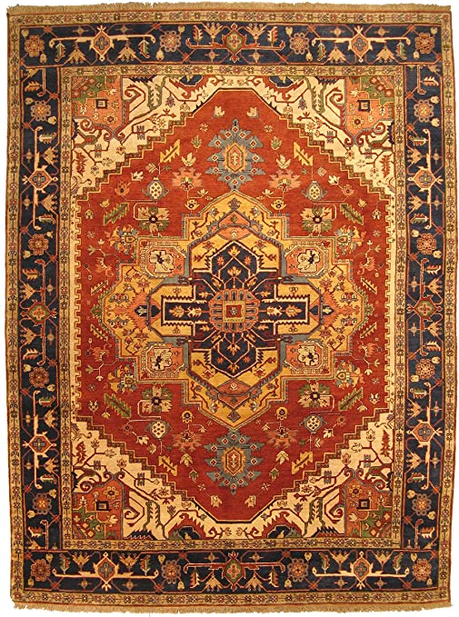 Amazon Com Eorc P10brt Hand Knotted Wool Serapi Rug 10 By 14