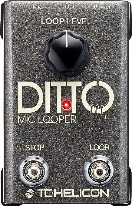 TC Helicon DITTO MIC LOOPER - Pedalera multiefectos de suelo para guitarra, entradas XLR