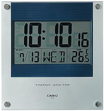 Buy Casio Square Resin Digital Wall Clock ID11S2DF Blue
