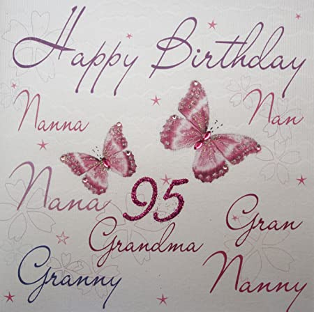 WHITE COTTON CARDS Wb125 95 Nannanannanagrangranny