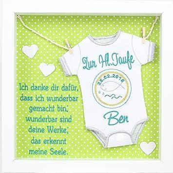 Baby Body Windel Bestickt Im Rahmen Mit Spruch Geschenk Taufe Geburt