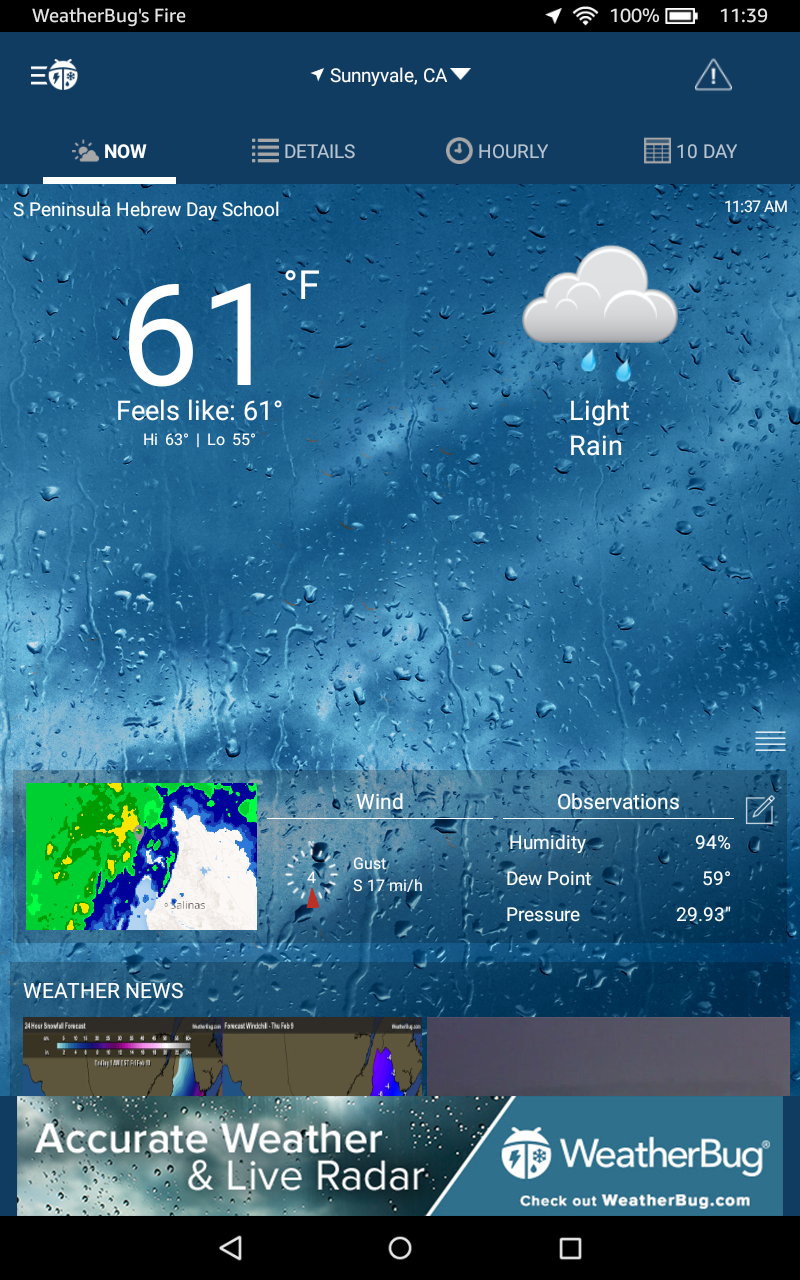 Amazon Com Weatherbug Appstore For Android