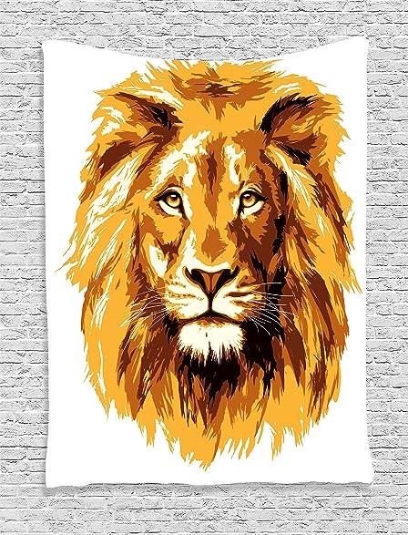 Amazon.com: Animal Tapestry Safari Decor by Ambesonne, Illustration ...