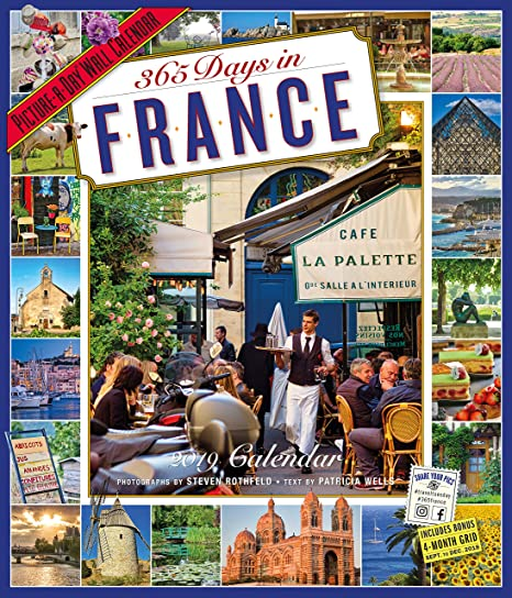 365 days in france 2015 wall calendar picture a day wall calendars