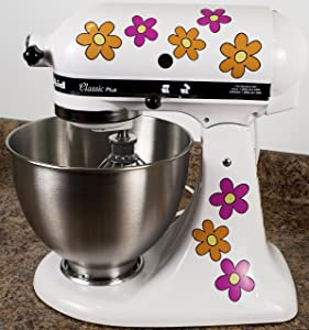 Hippy Flowers Daisy Decals for Kitchen Mixers