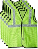 Safari Pro 2' Inch Reflective Safety Jacket, Green, Mesh Type, Set of 5