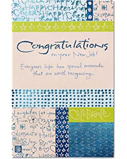 Amazon all the best on your new job greeting card american greetings your moment new job congratulations card with glitter m4hsunfo