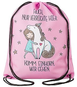bdec201f3c422 Aminata Kids - Kinder-Turnbeutel für Mädchen und Damen mit Unicorn Sache-n  Pferd