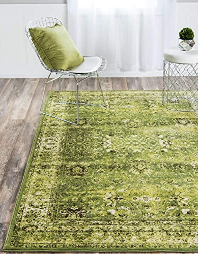 Unique Loom Imperial Collection Modern Traditional Vintage Distressed Green Area Rug 8 0 x 11 6