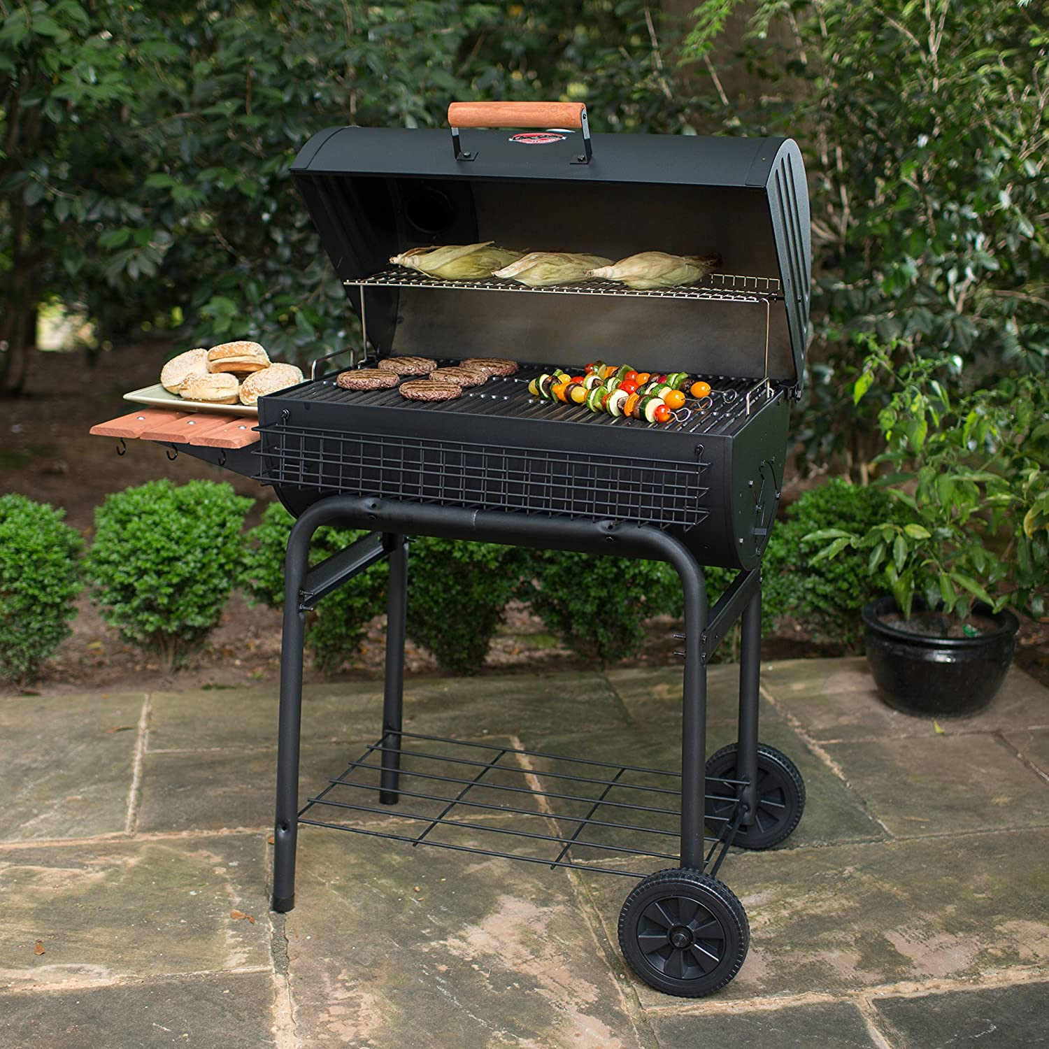 Char griller professional grill and smoker - Amazon Com Char Griller 2828 Pro Deluxe Charcoal Grill Garden Outdoor