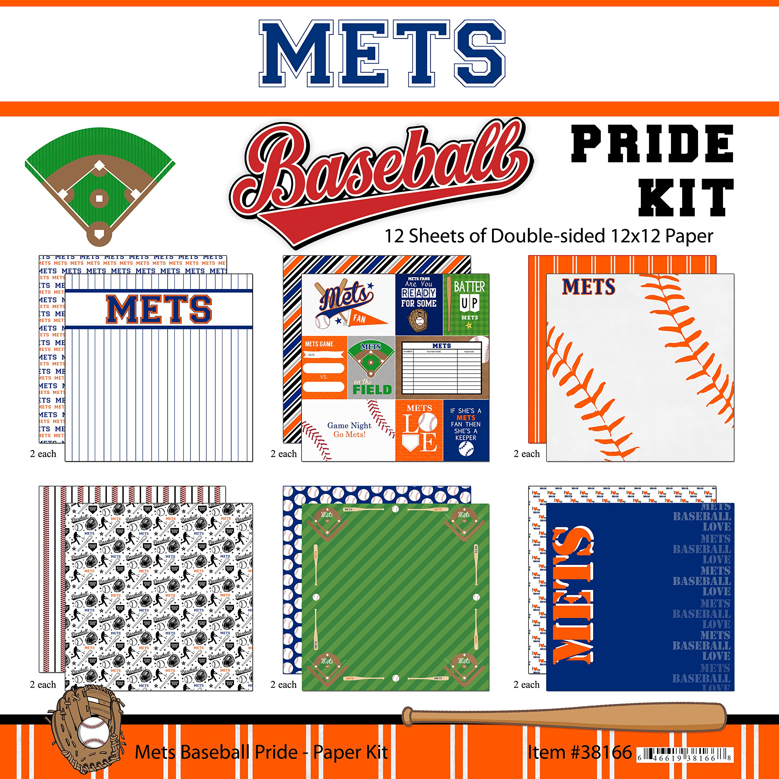 Scrapbook Customs Mets Pride Baseball Scrapbook Kit