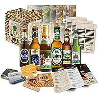 """6 bières allemandes""""Bières d'Allemagne"""" l Cadeau original pour la Fête des Pères + coffret cadeau l Meilleure idée cadeau pour le père papa beau-père parrain mari marié fiancé partenaire"""