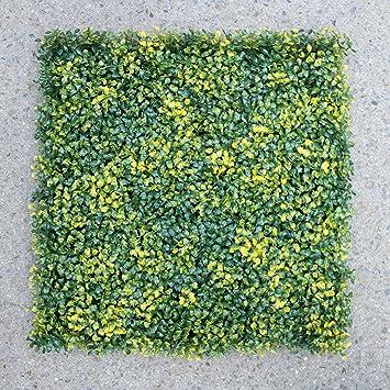 Uland 12 Künstliche Gelb Buchsbaum Hecken Platten UV-Dekorative ...