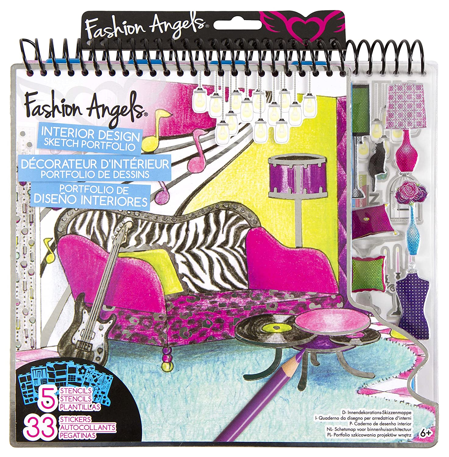 Fashion Angels Interior Design Sketch Portfolio