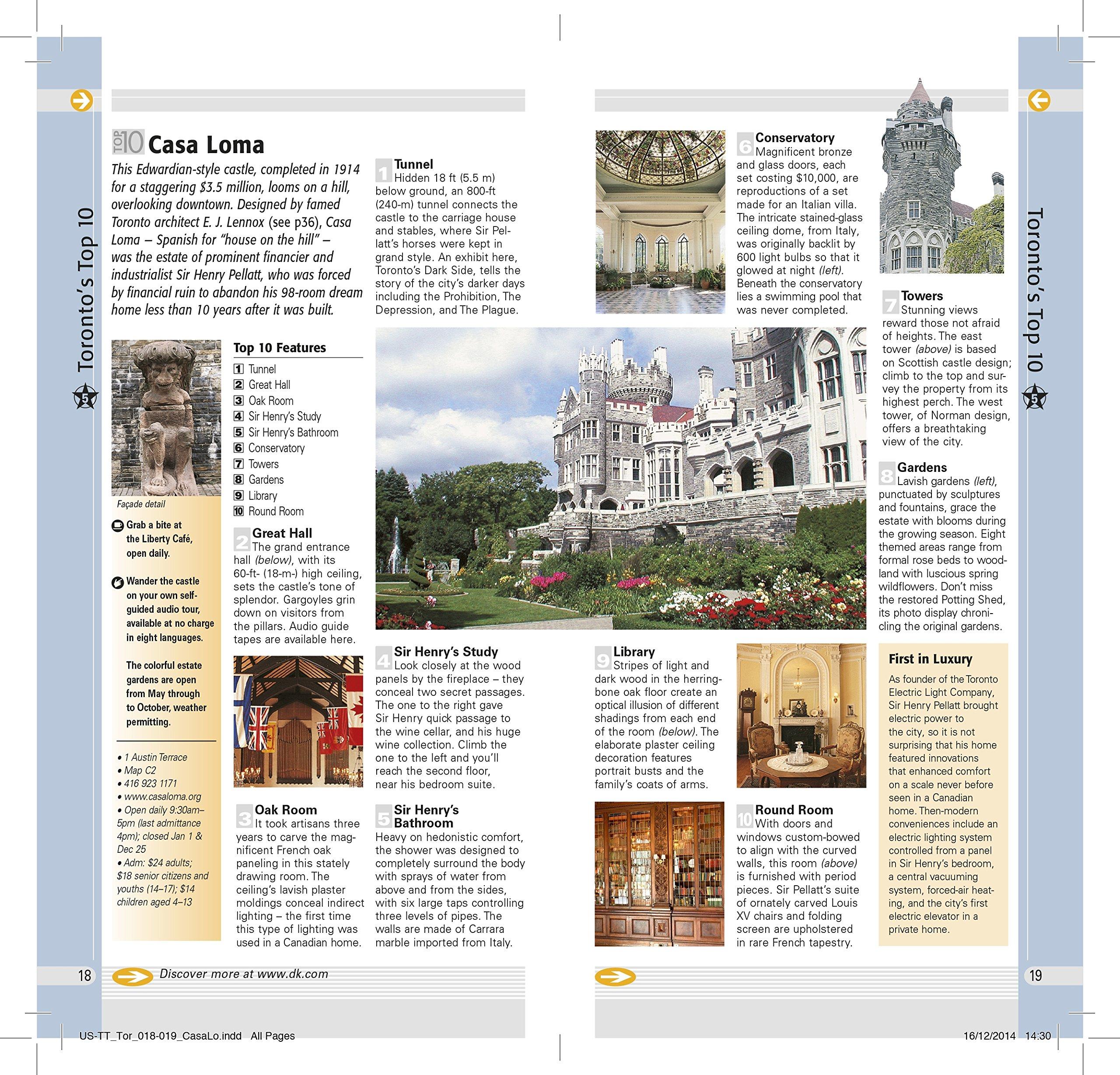 Top 10 Toronto (DK Eyewitness Travel Guide): Amazon.co.uk: DK Travel ...