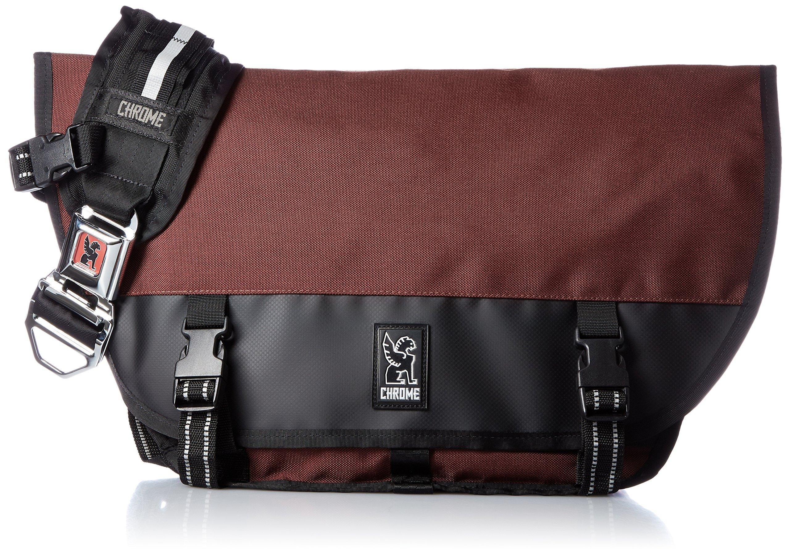 Chrome BG-001-BRIK Brick/Black One Size Mini Metro Messenger Bag Chrome Buckle