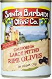 Santa Barbara Olive Co. California Large Pitted Ripe Olives, 6 Ounce Tins (Pack of 12)