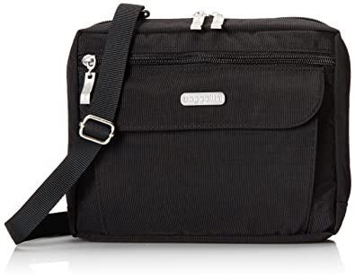 Amazon.com: Baggallini Wander Crossbody Travel Bag, Black, One ...